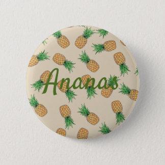 Runder Knopf Ananas Runder Button 5,7 Cm