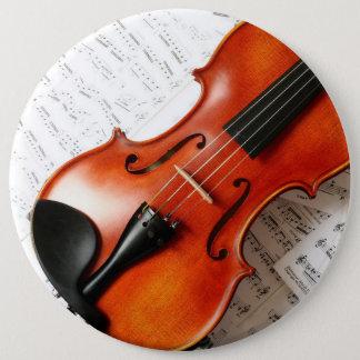 Runder Knopf - Musik-Instrument-Violine Runder Button 15,3 Cm