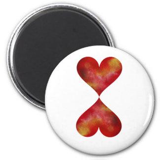 Runder Magnet der Herzen