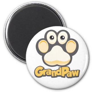 Runder Magnet Grandpaw Logos