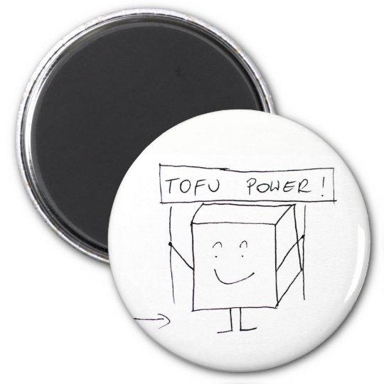 Runder Magnet mit Tofu, für veganes oder