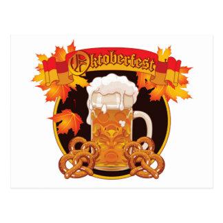 Runder Oktoberfest Feier-Entwurf Postkarten