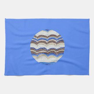 Rundes blaues Mosaik-Geschirrtuch Geschirrtuch