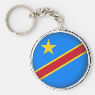 Rundes Demokratische Republik Kongo Schlüsselanhänger