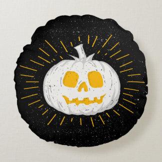 Rundes Kissen Halloween-Kürbislaterne- 