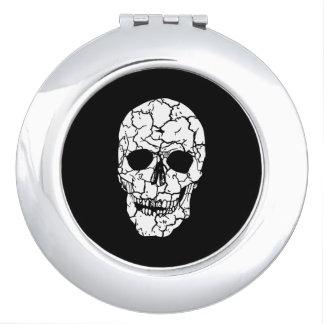 Rundes kompaktes Spiegel-Schädel-Gespenst Taschenspiegel