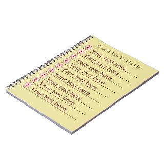 Rundes Tuit gewundenes Notizbuch Notizblock