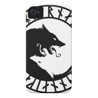 Runic entsetzliche Wolfwikinger-Skandinavier iPhone 4 Case-Mate Hüllen