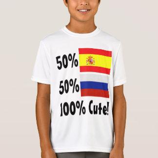 Russe 100% 50% Spanisch-50% niedlich T-Shirt