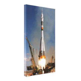 Russe Soyuz Start - 12. Oktober 2008 Leinwanddruck