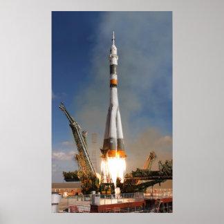 Russe Soyuz Start - 12. Oktober 2008 Poster