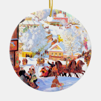 Russische Kunst-kundenspezifische Rundes Keramik Ornament