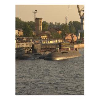 Russische nukleare Unterseeboote Postkarte
