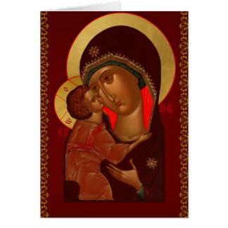 Russische orthodoxe Weihnachtsgrußkarte Karte