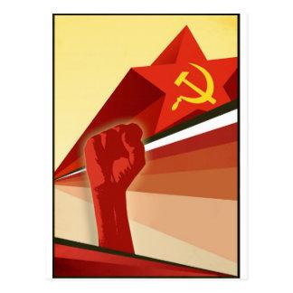 Russische Vintage kommunistische Propaganda Postkarte