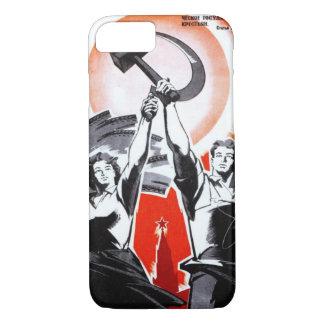 Russische Vintage Propaganda iPhone 8/7 Hülle
