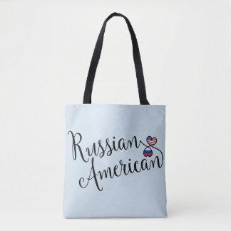 Russischer Amerikaner entwirrte Herz-Einkaufstüte Tasche