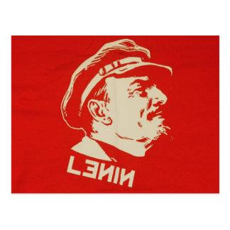 Russischer kommunistischer Führer Lenin Postkarte