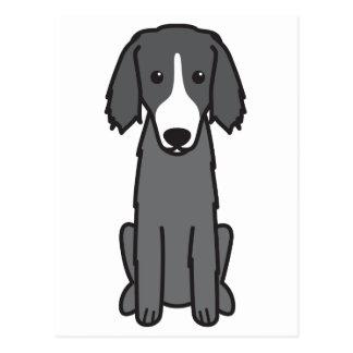 Russischer kursierender Jagdhund-HundeOstCartoon Postkarte