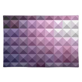 Russischer violetter abstrakter niedriger tischset
