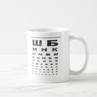Russisches Augen-Diagramm Tasse