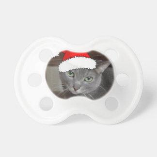 Russisches blaue Katzen-Weihnachten Schnuller
