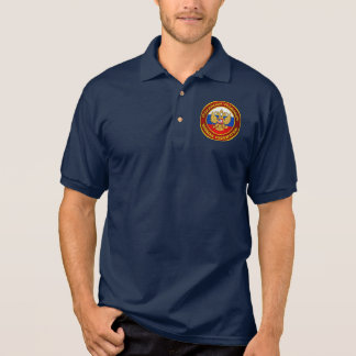 Russisches Emblem-Kleid Polo Shirt