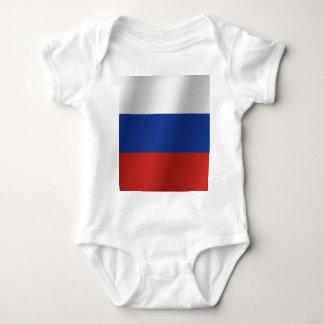 Russland-Flagge Baby Strampler