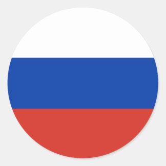 Russland-Flagge Runder Aufkleber