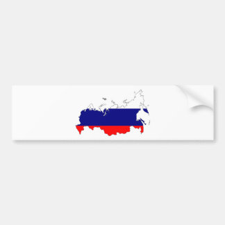 Russland-Flaggen-Karte Autoaufkleber