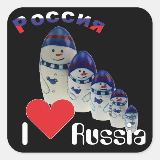 Russland - Russia Babuschka Matrjoschka Aufkleber