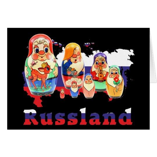 Russland - Russia Babuschka - Matrjoschka Karte
