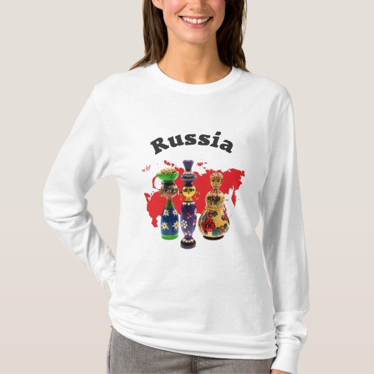 Russland - Russia Babuschka Matrjoschka T-Shirt