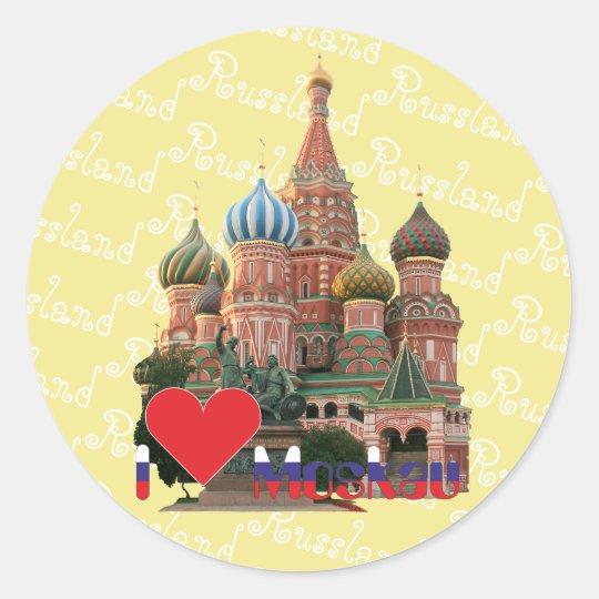 Russland - Russia Moskau Aufkleber