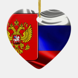 RusslandFlagge #4 Keramik Herz-Ornament