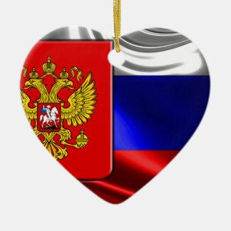 RusslandFlagge #4 Keramik Ornament
