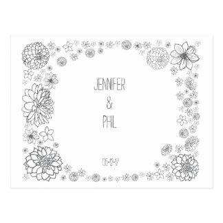 Rustikal Save the Date Wedding Karte