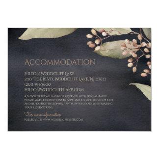 Rustikale Anpassung des dunklen botanischen Grüns 11,4 X 15,9 Cm Einladungskarte