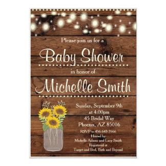 Rustikale Babyparty-Einladung, Weckglas, mit 12,7 X 17,8 Cm Einladungskarte