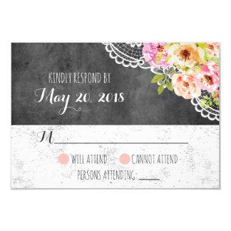Rustikale Bauernhaus-Hochzeits-Rosen u. 8,9 X 12,7 Cm Einladungskarte