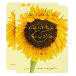 Rustikale Bauernhaus-Sonnenblume-Scheune Save the Karte
