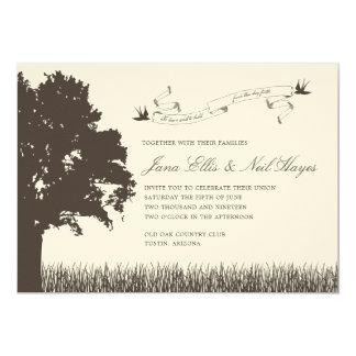 Rustikale Baum-Hochzeits-Einladung Karte