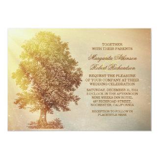 rustikale Baumhochzeitseinladungen 12,7 X 17,8 Cm Einladungskarte
