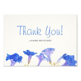 Rustikale Blumen| blaue Frühlings-Hochzeit danken 8,9 X 12,7 Cm Einladungskarte
