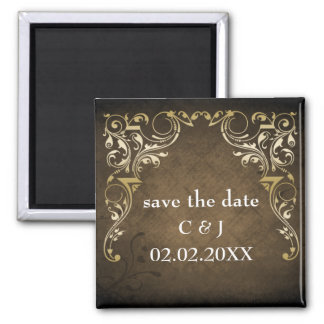 rustikale braune königliche Save the Date Magneten