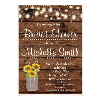 Rustikale Brautparty-Einladung, Maurer-Glas, mit 12,7 X 17,8 Cm Einladungskarte