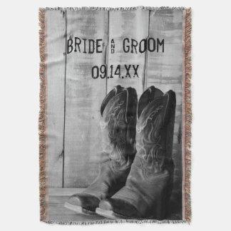 Rustikale Cowboystiefel-Western-Hochzeit Decke