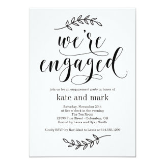 Rustikale Eleganz-Verlobungs-Party Einladung