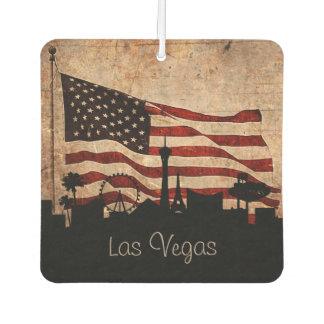 Rustikale Flagge-Las Vegas-Skyline Lufterfrischer