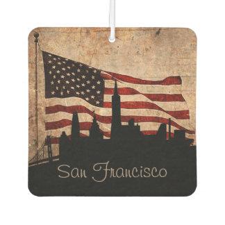 Rustikale Flagge-San Francisco Skyline Lufterfrischer